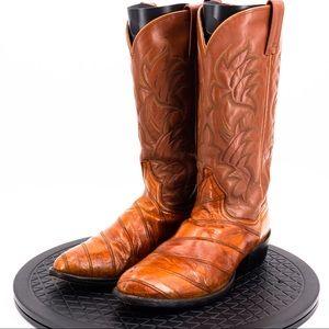 Dan Post Eel Skin Boots Mens Size 9.5D